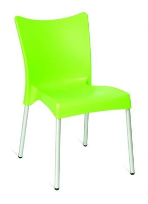 Green Outdoor Stacking Plast;ic Chair