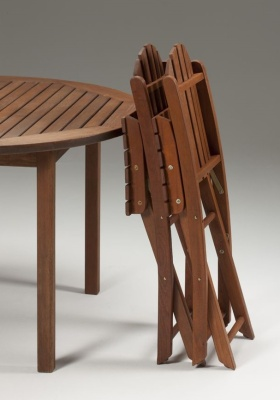 Leyton Outdoor Wooden Chairs Folded