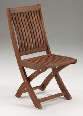 Westgate Outdoor Wooden Folding Side Chair