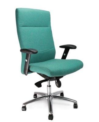 Grey Scorpio Ergonomic High Back Fabric Chair
