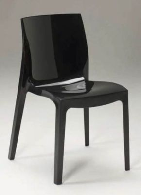 Black Gloss All Weather Use Plastic Chair