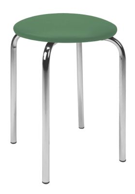 Chico Low Stool Green Vinyl Seat