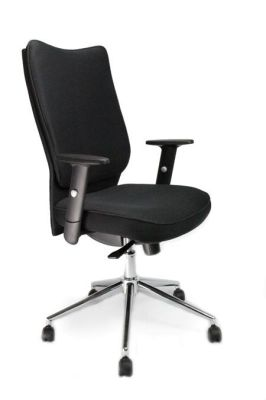 Panama Black Fabric Computer Chair With Swivel Base And Castors