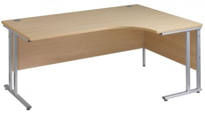 Gm Right Hand Corner Desk With A Cantilever Frame