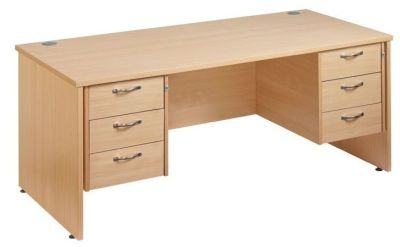 Gm Panel Sided Desk With Two Sets Of Three Drawers