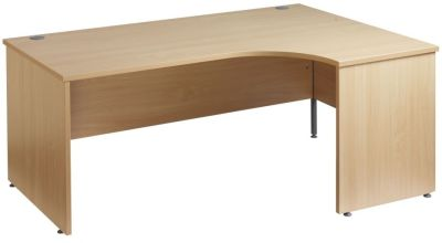 GM Right Hand Corner Desk With Panel Sides