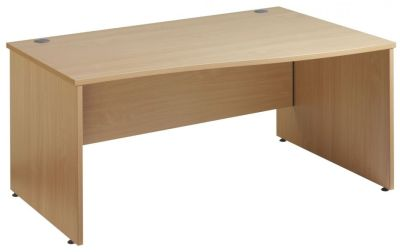 Gm Right Hand Wave Desk With Panel Sides