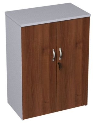 Duplex Walnut And White Medium Heigtht Cupboard