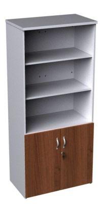 Duplex Tall Combination Cupboard With Walnut Doors