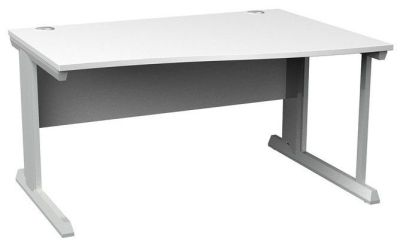 Viva Right Hand Wave Desk White Top
