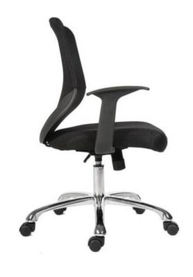 Bisoto Swivel Office Chair With Angled Back, Twin Wheel Hooded Castors And Fixed Arm Rests