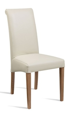 Turin Cream Leather Dining Chair