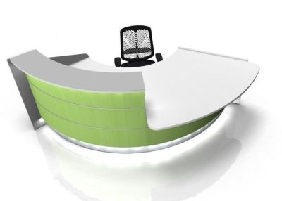 Valde 60 Degree Curved Reception Desk With Wheel Chair Access Area