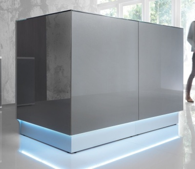 Lx Glass Reception Desk Composition 1