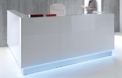 Lx Glass Front Reception Desk