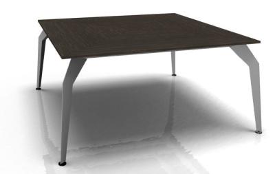 Acti Square Desk Ebony Aluminium Frame