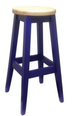 Deli Wooden High Stool Blue
