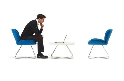Spirit Lite Reception Furniture Including Designer Chairs With Wire Frame And Matching Table