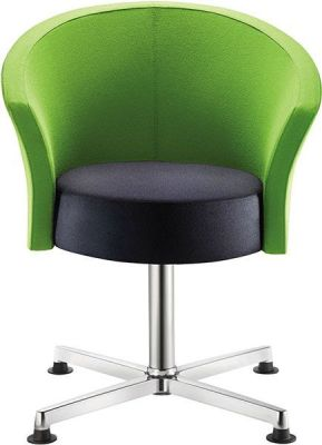 Bobbin Green And Black Staff Room Chair With Black Nylon Glides