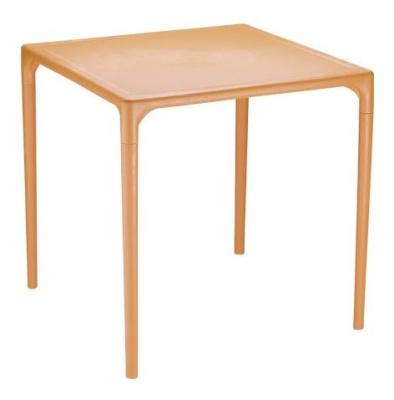 Mango Orange Outdoor Plastic Table