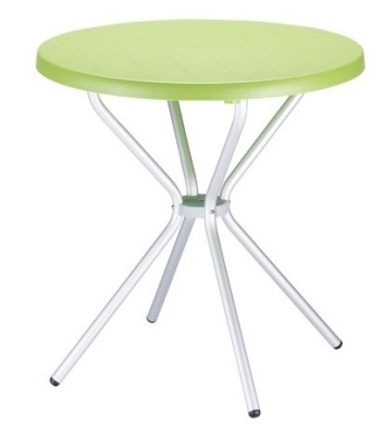 Elfo Outdoor Plastic Table Lime Green Top