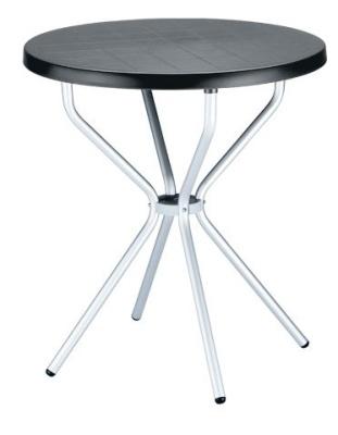 Elfo Outdoor Plastic Table Black Top