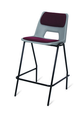 PP1 Heavy Duty High Stool With Useat And Back Pad