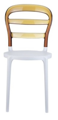 Miss Bibi Bistro Chair White Seat And Amber Back