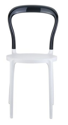 Mr Bobo Bistro Chair White Seat And Black Backrest