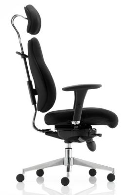Chiro Plus Ergonomic Chair With Headrest Side View