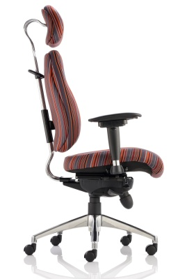 Chiro Plus Chair With Head Rest And Custom Fabrics Side View