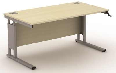 Avalon 800mm Deep Height Adjustable Rectangular Desks