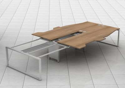 Avalon Plus Bench Desks With Sliding Tops In Situ