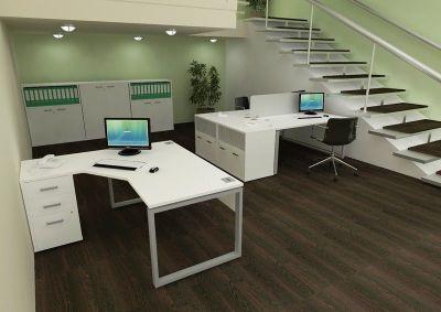 Avalon Plus Radial Bench Desk Installation Shot