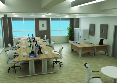 Avalon Plus Double Wave Desk Installation