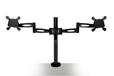 Matal Dual Monitor Arm In Black