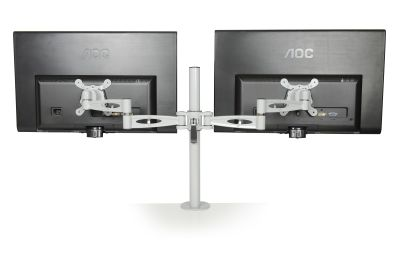 Matal Dual Monitor Arm Rear View
