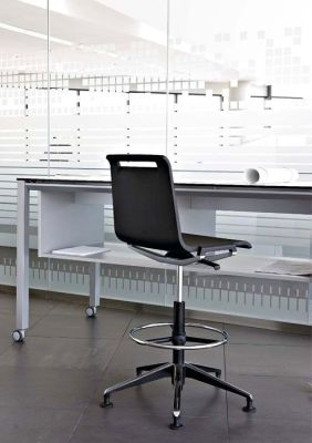 Design Office Using MIT Black Draughtsman Swivel Chair With Foot Ring