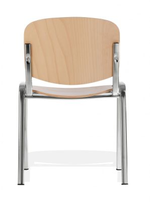 Iso Multipurpose Wooden Chair With Chrome Frame