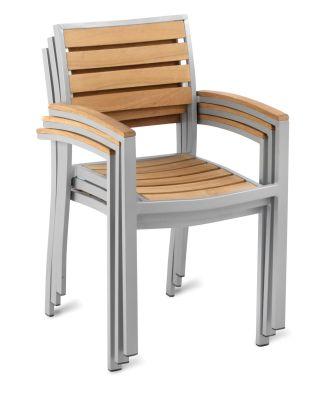 Vola Teak And Aluminium Armchair Stacked