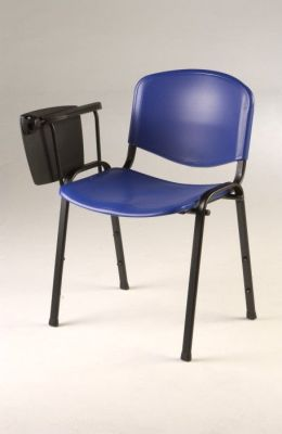 Tommy Dark Blue Conference Chair With Lift Up Writing Desk