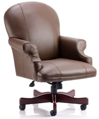 Edinburgh Traditional Brown Leather Executive Chair
