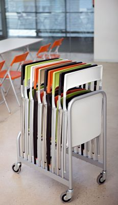 Trolley With Plek Designer Folding Chairs