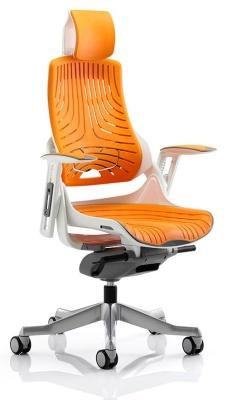 Zodiac Elastomer Task Chair In Orange