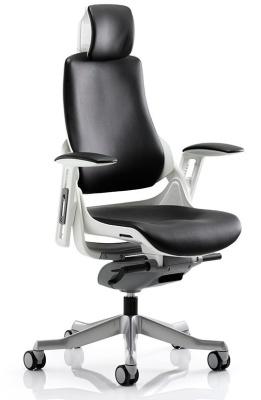 Zodiac Black Leather Task Chair