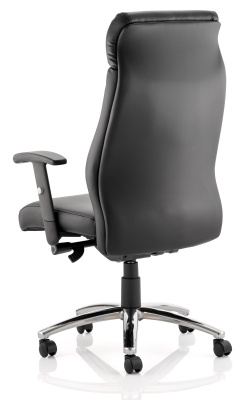 Drew Executive Black Leather Chair Rear View