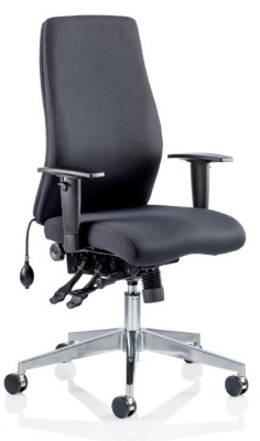 Orion Ergonomic Chair In Black Fabric Without Headrest