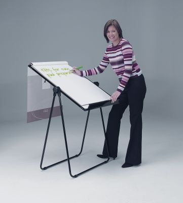 Ultimate Flipchart Easle Tilted With A1 Flip Chart