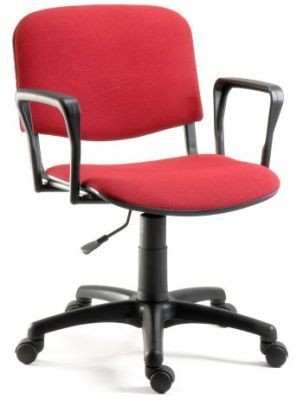 Tamper Proof Red Swivel Classroom Chair With Armrests And Castors