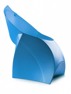 Flux Blue Folding Chair In Blue Sde View